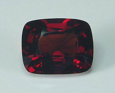 GIA Certified Natural Red Spinel Mogok Cushion 4.70 ct Rare