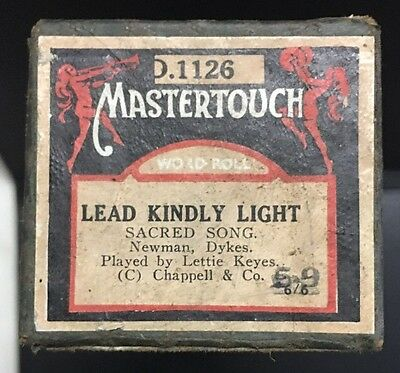 Pianola Piano Roll Lead Kindly Light Mastertouch D.1126