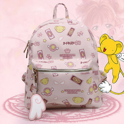 Card Captor Sakura KINOMOTO SAKURA PINK Shoulders Bag School Backpack Pokemon #1