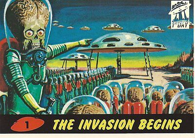 Mars Attacks! Archives 1994 First Day Card #1  Plus 2 Wrappers