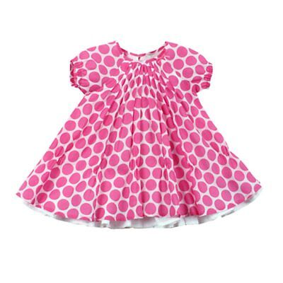 Baby Girls Sahara dress : white with pink spots