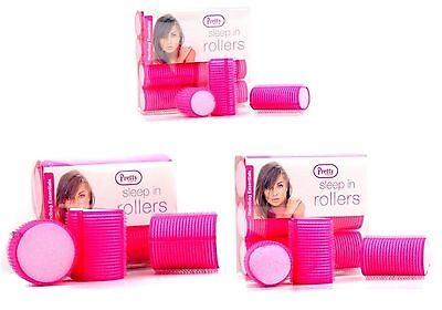 Hair Rollers Perfect For Sleeping In Curling Accessory 10 Pack Pretty Pink Soft
