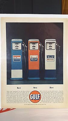 Early 1960's Gulf Motor Oil Magazine Ad From Time Or Newsweek