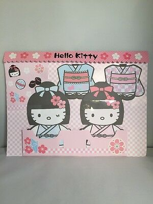 Sanrio 2010 Hello Kitty Kimono Dress Paper Doll Letter Set New In Package