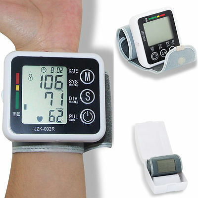 Automatic Digital Blood Pressure Monitor Wrist Cuff Heart Beat Rate Pulse Meter