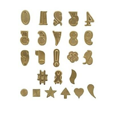 NEW Hot Stamps Numbers & Symbol Set from Hobby Tools Australia