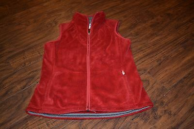 J7- The North Face Red Full Zip Vest Size Women's Small