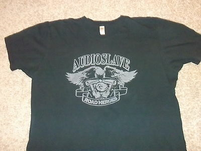 """AUDIOSLAVE """"Road Heroes"""" rare shirt Adult Large Chris Cornell hard to find"""