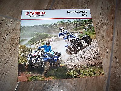 Catalogue /  Brochure YAMAHA Gamme ATV / UTV 2014  //