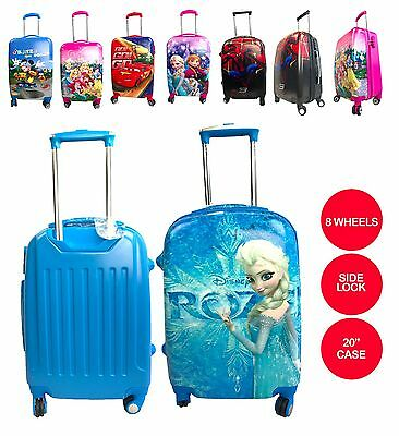 "New Character Design Boys & Girls 20"" Trolley Suitcase backpack Luggage 8 Wheels"