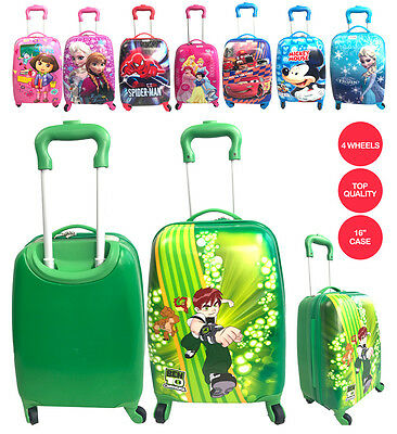 "New Character Design Boys & Girls 16"" Trolley Suitcase backpack Luggage 4 Wheels"