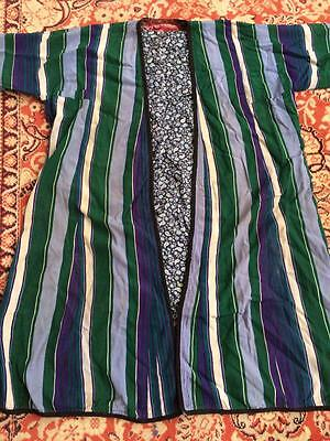 6 Antique Uzbek Vtg Cotton Padded Silk Robe Bekasam Chapan