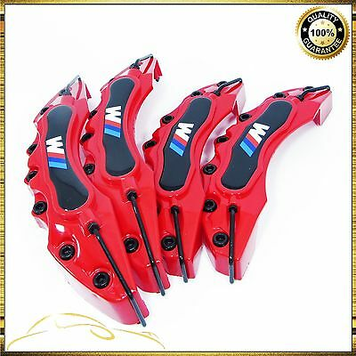 Red BMW M POWER Brake Caliper Cover Universal Disc Racing Front Rear Power