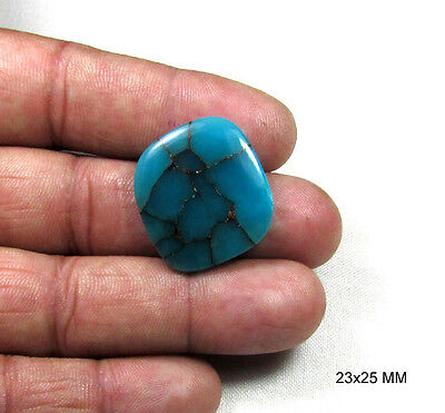 28.35 CT Blue Turquoise Gemstone 100% Natural, Cabochon in Stock 23x25 MM