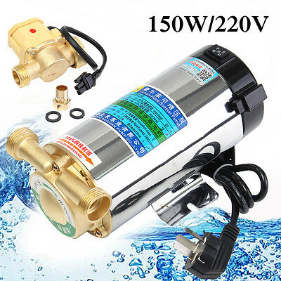 220V Automatic Household Booster Pump Boost Pressure and Circulate Water 150W