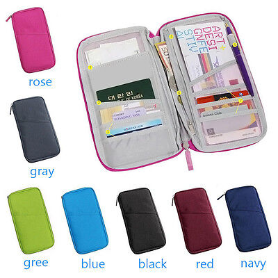 Travel Bag Pouch Wallet Passport ID Credit Card Cash Holder Organizer Purse AU