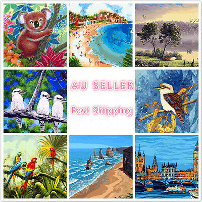 Large PaintIing By Numbers Canvas Kit 40*50cm A002015 AU STOCK HOME DECOR DIY