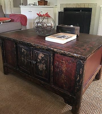 Antique Chinese Coffee Table Mahjong Table Hand Painted