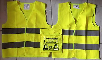 Warning West Set (2 Pcs) for 2 Children's or Young According to EN 20471 Class 1
