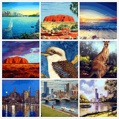 Large PaintIing By Numbers Canvas Kit 40*50cm A016038 AU STOCK HOME DECOR DIY