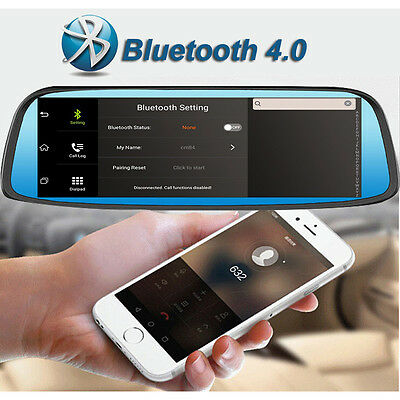 8inch MIPI Touch Screen FM Bluetooth GPS Mirror Front Rear Camera Dash Cam