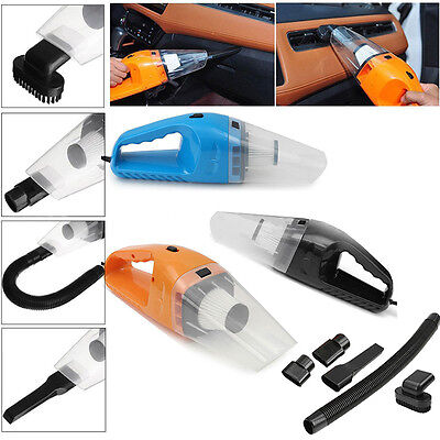 Portable 150W 12V Handheld Cyclonic Car Vacuum Cleaner Wet/Dry Duster Dirt Tool