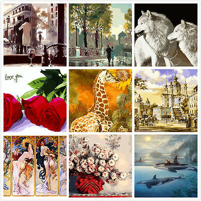 Large PaintIing By Numbers Canvas Kit 40*50cm 80878143 AU STOCK HOME DECOR DIY