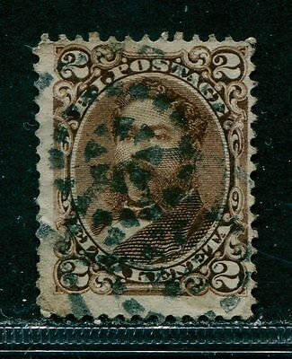 Hawaii 1875 - 2c Sc #35 Used  (#4) fancy cancel fractured rings