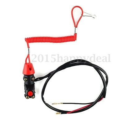 Engine Stop Cut Off Kill Tether Switch Lanyard Emergency Motorcycle Quad Bike