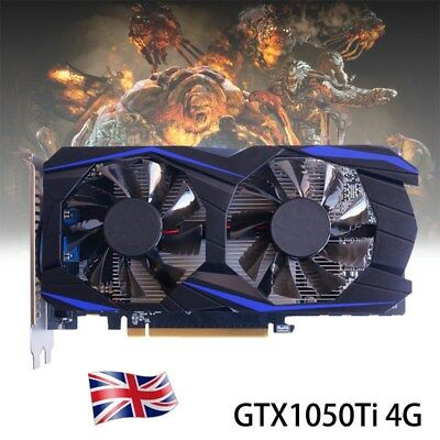 UK GTX 1050Ti 4G DDR5 128Bit PCI-E Game Video Graphics Card For NVIDIA GeForce