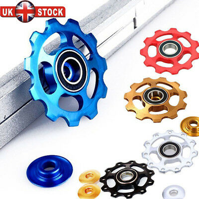 UK 11Tooth MTB Ceramic Bearing Jockey Wheel Pulley Bicycle Bike Derailleur