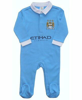 Manchester City Man City F.C Baby Kit Sleepsuit Baby grow Official Merchandise