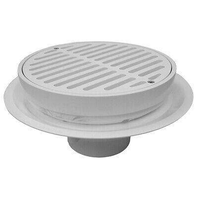 """4"""" Heavy Duty Traffic PVC Floor Drain with Full Plastic Grate and Ring ,PartNo D"""