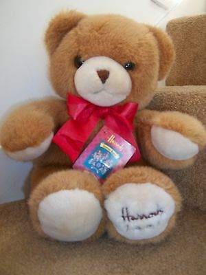 """NEW 18"""" HARRODS FOOT DATED 1991 26th BIRTHDAY GIFT TEDDY BEAR SOFT TOY"""