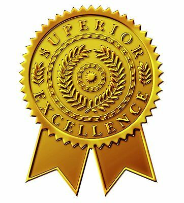"Great Papers! Starburst Ribbon Embossed and Gold Foil Certificate Seal, 1.75"","