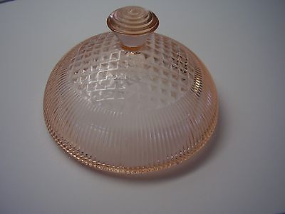 Jeannette Homespun Pink Depression Glass Butter Lid Only *AS IS* FREE SHIPPING