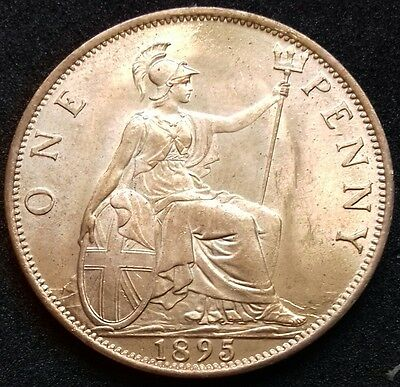 1895 Penny. Practically Mint State With Near Full Lustre. S.3961.