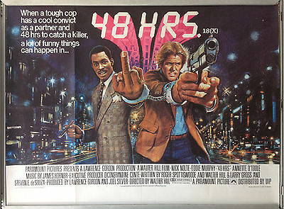 Cinema Poster: 48 HOURS 1982 (Quad) Nick Nolte Eddie Murphy