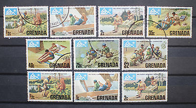 Grenada 1975 14th World Scout Jamboree, Norway. Mint and Used