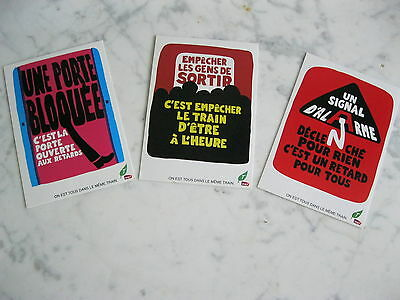 Lot 3 Cartes Postales Sncf Theme La Regularite