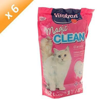 VITAKRAFT Litiere Magic Clean 4 semaines - Pour chat - (x6)