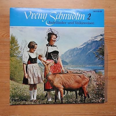 """Vreny Schmidlin 2 - Yodelling and Folksongs German Alpine 7"""" EP (1960s) Ex/Ex"""