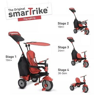 SmarTrike Glow Touch Steering 4-n-1 Babies Tricycle Ride On Red Little Tikes