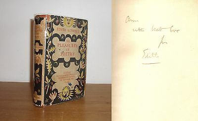 Edith Sitwell - The Pleasures of Poetry - Signed - 1st/1st