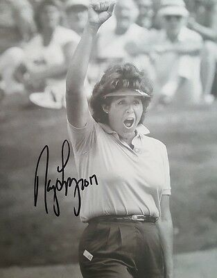 Nancy Lopez Hand Signed 8x10 Autographed Photo w COA LPGA