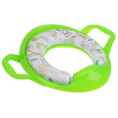 Printed Kids Toddler Soft Padded Potty Seat Cushion Toilet Training Green