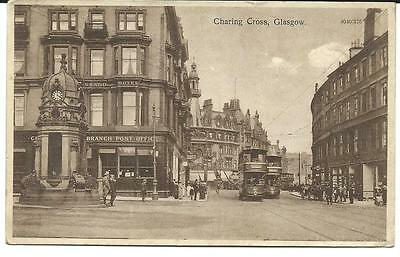 Vintage RP Postcard, Charing Cross, Glasgow. Reliable Series. 4040/376