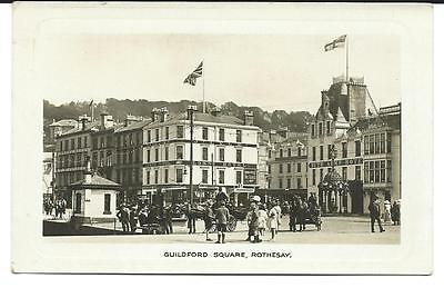 Vintage RP Postcard, Guildford Square, Rothesay, Lorne Hotel, Bute Arms Hotel.