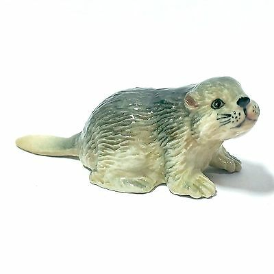 Miniature Cute Otter Statue Ceramic Country Animal Figurine Collectibles Decor