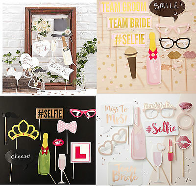 HEN PARTY PHOTO BOOTH PROPS - Selfie Game Dress Up Team Bride to Be Fun Quirky